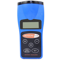 Wholesale Electronic Ultrasonic Range Finder Distance Meter Laser Pointer Measurer Digital LCD Nice for You and Easy to Use
