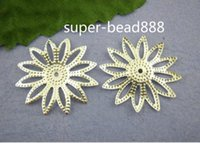 Wholesale Free Ship Silver Plated Filigree Flower Beads Caps mm