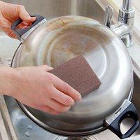 Wholesale Large Area Carborundum Fine Flexible Descaling Clean Magic Brush Sanging Sponge Household Cleaning Tools Scouring Pads