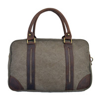 Wholesale 2016 Vintage military Large Capacity Canvas Leather handbag travel shoulder bags Carry on Luggage bag Weekend Duffle travel bag