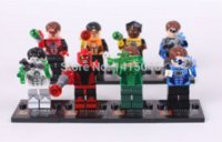 Wholesale 8 NEW Green Man SY186 Children Toys Plastic Building Block Set Compatible No Original Box