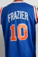 Wholesale 10 Walt Frazier Royal Blue Throwback Jersey size extra small XS xl top quality