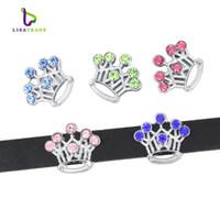 Wholesale 10PCS MM Mix Color Rhinestone Slide Charms Fit for mm Wristband bracelet Belt Pet collar styles can choose LSSC13