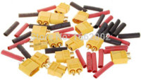 antenna resistance - 40 RC Connector Pair XT60 Male amp Female Shrink Tubing Yellow skid resistance golden High Current