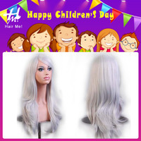 big hair day - 2016 Children s Day Big Discount Fashion Party Natural Wave Cosplay Wigs Full Lace Synthetic Wigs cm Long Hair Wig For Women In Stock