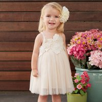 Wholesale DAVE BELLA summer girl formal dress kid infant toddler baby girl party princess sundress tutu embroidery wedding child baby girl clothes