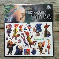 art styles hands - Zootopia Child Temporary Tattoo Body Art Flash Tattoo Stickers cm Waterproof Henna Tatoo inside out Styling Wall Sticker DHL