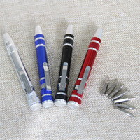Wholesale 8 In Precision Magnetic Pen Style Screwdriver Screw Bit Set Slotted Phillips Torx Hex V1 Repair Portable DIY Tool DHL