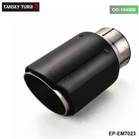 Wholesale TANAKY NEW Universal ID mm OD MM Carbon Fiber Exhaust Tip Muffler EP EM7023