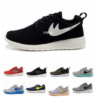 athletic grey - Cheap Brand Roshe Run Running Shoes For Women Men Classical Lightweight London Olympic Athletic Outdoor Sneakers Eur Size