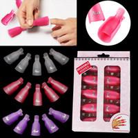 Wholesale 5 Set Second Generation Salon DIY Nail Art Tool Acrylic UV Gel Soakers Soaker Clip Cap Wrap Nail Polish Removers F0263X
