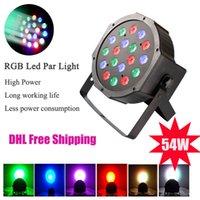 bar equipments - 18 LED Beads Par Light High Power W RGB Par Light With DMX512 Master Slave Professional Stage Equipments for DJ Bar Nightclub Party