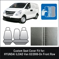 Wholesale Black Waterproof Canvas Seat Cover Hyundai iLoad I LOAD Van On Front Row
