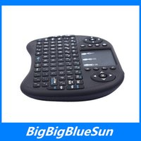 Wholesale 2016 Rii i8 Remote Air Mouse Mini Keyboard Combo Wireless G Touchpad Keypad For Android Amlogic S905 TV BOX