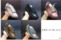 band r - 2015 New Arrival RAF Simons STAN SMITH Shoes with R Logo for Men and Women smith shoes gold silver pink blue color
