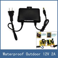 Wholesale Brand New Waterproof Outdoor mm DC V A Power Supply Adapter for CCTV Monitor Camera or PTZ Bracket AC V