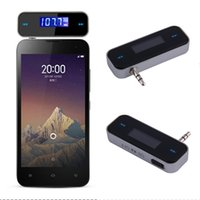 Wholesale Universal New mm Audio Jack Port Mini Car FM Transmitter Kit Music FM With USB Cable for Mobile Phones iPhone iPad