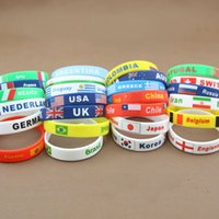 asian countries - 2016 New Hot Country Bracelet National Flag Fashion Silicone Olympics Bracelets Comfortable Beautiful Sports Wristband