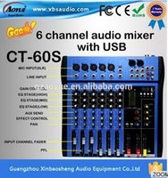 Wholesale 6 channels Professional stage performance mixer band effect audio mixer karaoke mixer CT S mixing console with factory price