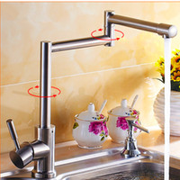 Wholesale PHASAT Contemporary Silver Stainless Steel Swivel Personality Outside Hot and cold water Sprayer Sink Kitchen Faucet