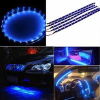 Wholesale 3258 SMD M Soft cm Waterproof Blue LED Car Vehicle Motor Grill Flexible Light Strips V