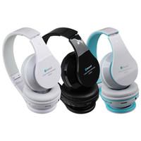 AT-BT809 Auriculares estéreo inalámbricos plegables Bluetooth Auriculares estupendos auriculares Mic FM TF ranura para iPhone iPad PC