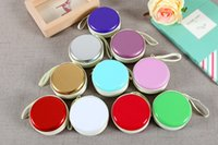 Wholesale Hot selling coloful high qulality Circular Carrying Cases for Cellphone Earphone Headset Earbuds Pouch Storage bags