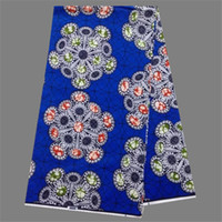 african wax prints - New fashion style royal blue print African veritable wax fabric for garments DFW6 yards