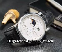 best phases - Hot Sell Brand Grande Lange1 Moon Phase Mens Watch Silver Dial Automatic MM Gents Watch Leather Strap Luxury Cheap Best Watches