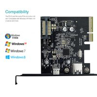 Wholesale dodocool USB Gen II Gbps Type C and Type A Port PCI Express PCI E Card for Desktop PC Free DHL DC22