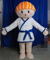 Wholesale SX0729 With one mini fan inside the head a sushi man mascot costume for adult to wear
