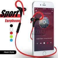 apple music player - Bluetooth Earphone Sport Wireless Headset Hook Stereo Music Player Neckband Earphone Jogging Headphone For Universal Cellphone In Retail Box