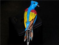 beautiful woodpecker - Ladies jewelry fashion colors all match beautiful woodpecker fashion fresh date ladies wind oil Brooch female accessories