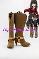 belphegor cosplay - Freeshipping When They Cry The Seven Sisters Belphegor cosplay Shoes Boots custom made for Halloween Christmas festival