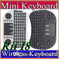 android media remote - 2016 Wireless Keyboard rii i8 keyboards Fly Air Mouse Multi Media Remote Control Touchpad Handheld for TV BOX Android Mini PC B FS