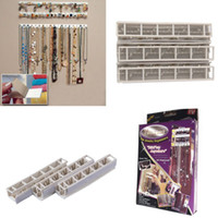Wholesale 9 in Bling eez Adhesive hooks Jewelry Organizer jewelry storage hook combination sticky hooks hooks wall stickers set New