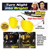 Wholesale Night View NV Glasses Glare Reduction Glasses Clear Bright Great for Night Driving Protection car driving luminous mirror Glasses
