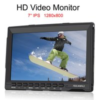 Wholesale Feelworld FW Slim HD Video Monitor IPS x800 HDMI p Peaking Focus with Sunshade FW759 for BMPCC BMCC