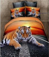 Wholesale 100 Cotton Inspiring Lion Grassland Background D Print Piece Duvet Cover Sets Bedding Sets Duvet Cover Bed Sheet Pillow Cas