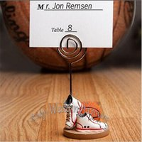 basketball wedding favors - Fashionable Design Resin Basketball Place Card Holder Sports Themed Wedding Party Favors Anniversary Accessories