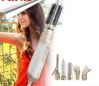 Wholesale Riwa Brand In Hair Styling Tools Stick Air Brush Hair Dryer Set Multi functional Travel Curling Irons RC A