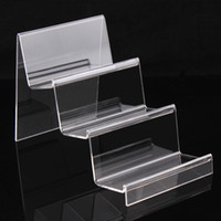acrylic wallet stand - Clear Acrylic layers jewelry display wallet show rack or cellphone holder