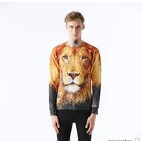 african male clothing - sweater dresses for women d animal print long sleeved clothes personality distinct African male lion men and women