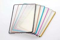 apple ipad bumper - For iPad Mini ipad pro ipad air Tablet Clear Cover Bumper Electroplating Colorful Bumper TPU