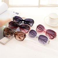beautiful lenses - 2016 New Style Fashionable and Beautiful Sun Glasses Summer Large Frame Round Glasses Anti UVA and UVB