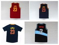Wholesale Top Quality Men Kevin Love Kyrie Irving Jr Smith James Jerseys Red Blue Yellow Black Jerseys Embroidery Logo Mix Order