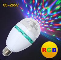 RGB ac lasers - LED Stage Light bulb E27 W AC V RGB laser light Auto Rotating Colors Change DJ Disco Club Party PUB KTV sing laser