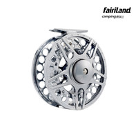 bar wheel - 7 mm in BB METAL fly fishing reel PRECISION MACHINED fly reel from BAR STOCK ALUMINUM w INCOMING CLICK ice fishing wheel