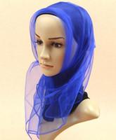 Wholesale Fashion Muslim Hijabs Headscarf Women Scarf Small Square Scarf Solid Color Chiffon scarves shawl cm
