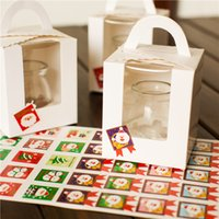 Wholesale 400pcs Paper Sticker New Christmas Label Gift Package Sealing Stickers for Cookie Candy Nuts Package X mas Tree Snowman